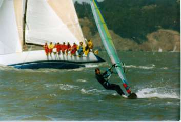 Windsurfing San Francisco Bay '90s