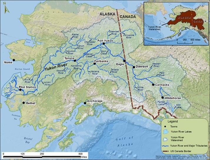 Yukon River Woman Great Rivers - Yukon river map